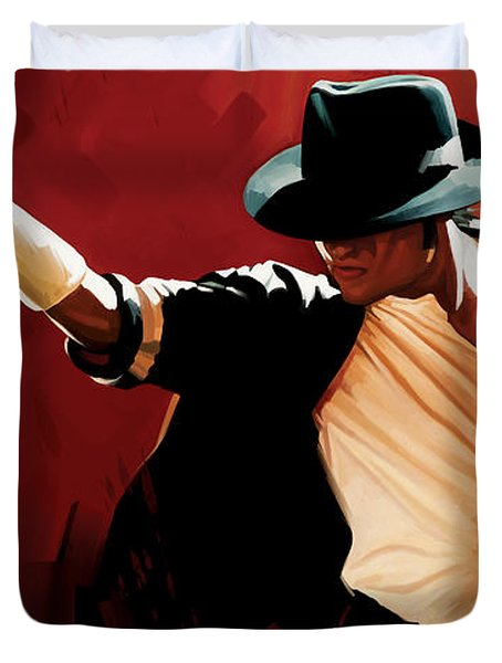 Michael Jackson Artwork 4 Duvet Cover by Sheraz A