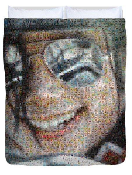 Michael Jackson - Mosaic Duvet Cover by Paulette B Wright