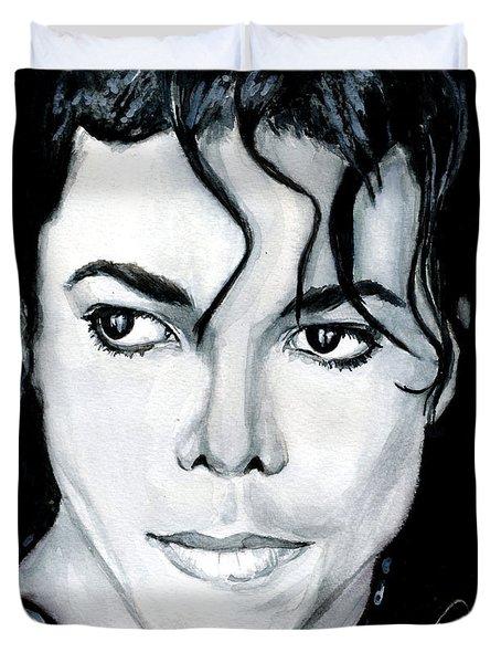 Michael Jackson Portrait Duvet Cover by Alban Dizdari
