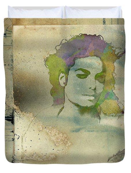 Michael Jackson Silhouette Duvet Cover