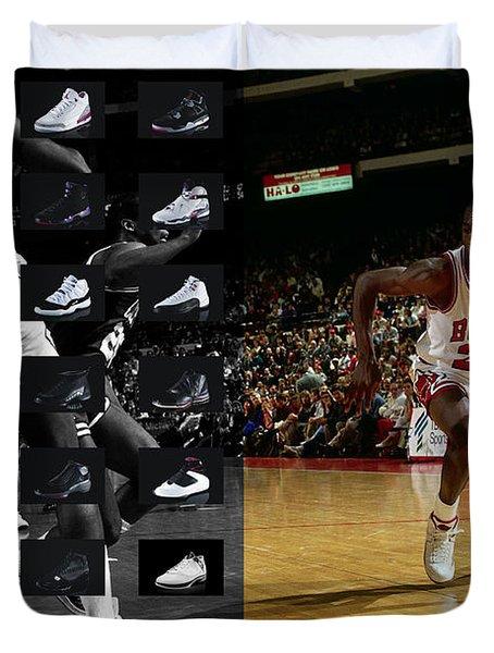 Michael Jordan Shoes Duvet Cover