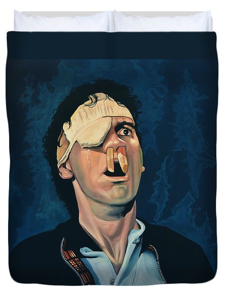 Michael Palin Duvet Cover by Paul Meijering