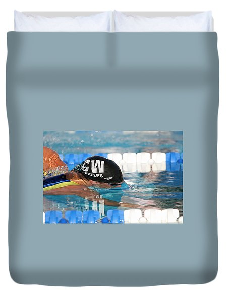 Michael Phelps  Duvet Cover by Duncan Selby