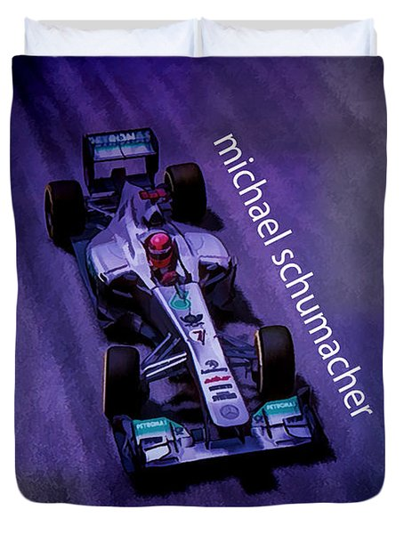Michael Schumacher Duvet Cover