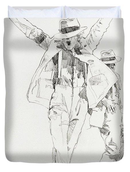 Michael Smooth Criminal Duvet Cover