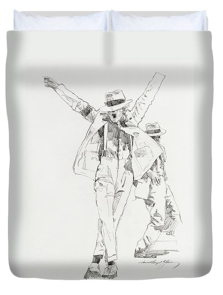Michael Smooth Criminal Duvet Cover