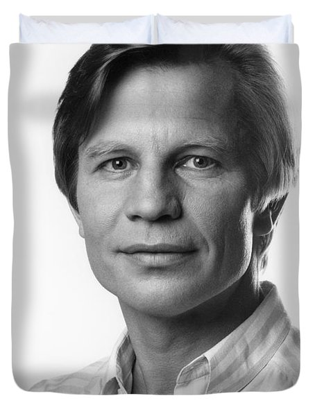 Duvet Cover featuring the photograph Michael York by Mark Greenberg