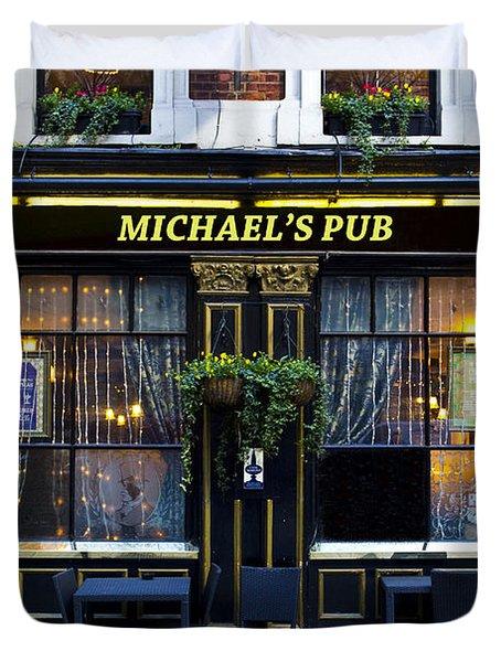 Michaels''s Pub Duvet Cover by David Pyatt