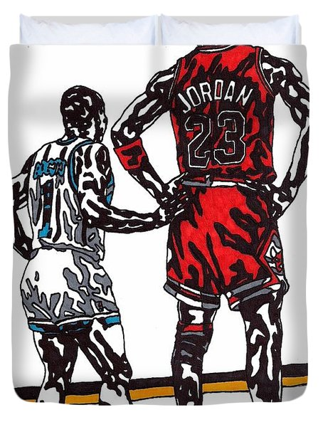 Micheal Jordan 1 Duvet Cover by Jeremiah Colley
