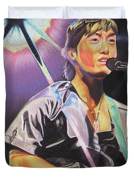 Micheal Kang Duvet Cover by Joshua Morton