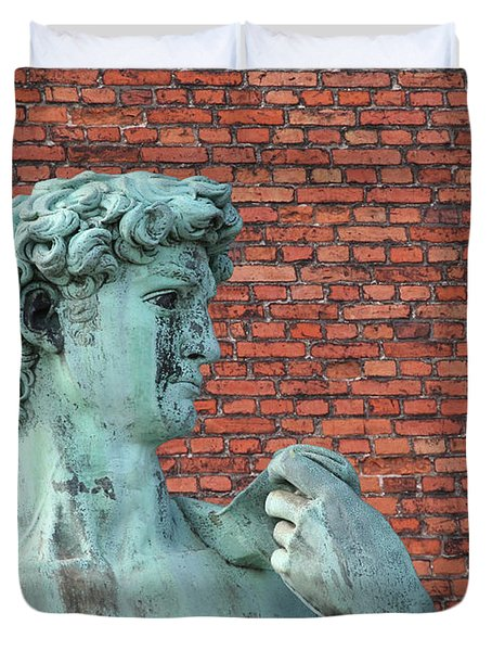 Michelangelos David Duvet Cover