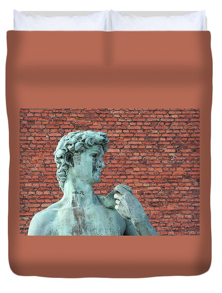 Michelangelos David Duvet Cover