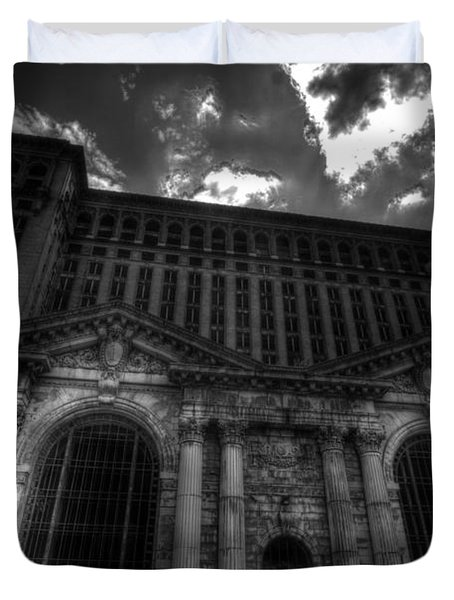 Michigan Central Station Highrise Duvet Cover