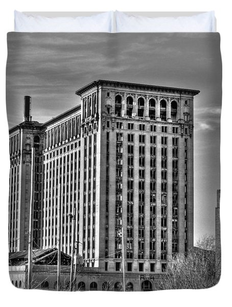 Michigan Central Station Duvet Cover
