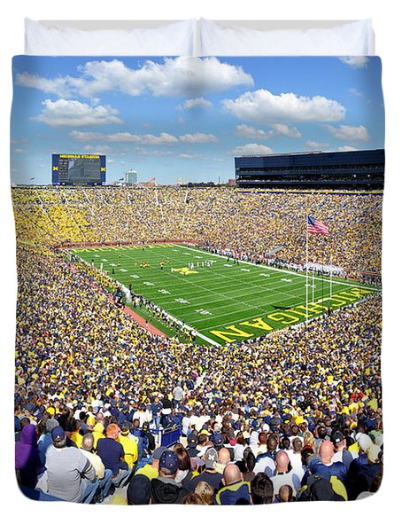 Michigan Stadium - Wolverines Duvet Cover
