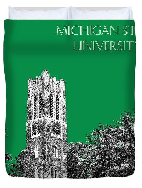Michigan State University - Forest Green Duvet Cover