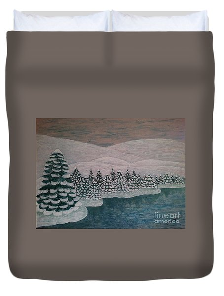 Michigan Winter Duvet Cover