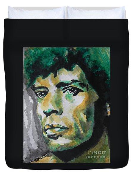 Mick Jagger Duvet Cover by Chrisann Ellis