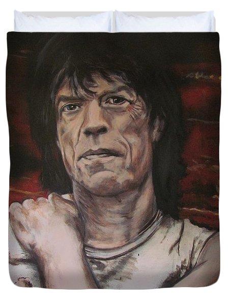 Mick Jagger - Street Fighting Man Duvet Cover