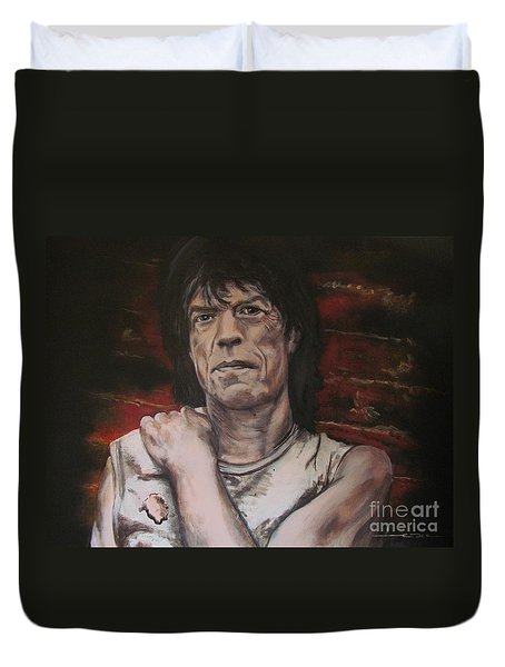 Mick Jagger - Street Fighting Man Duvet Cover