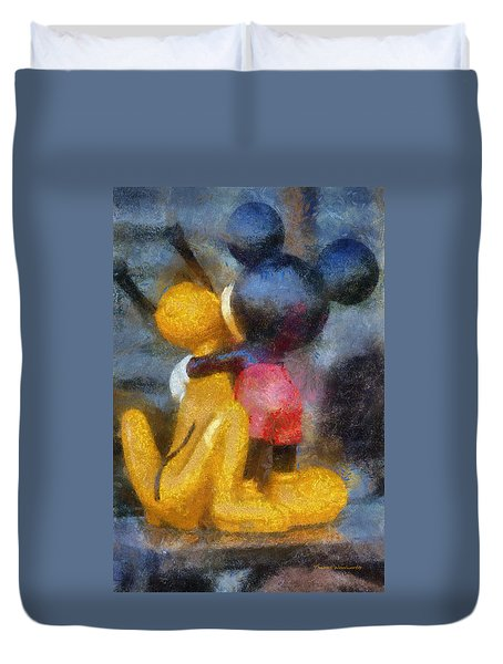 Mickey Mouse Photo Art Duvet Cover by Thomas Woolworth