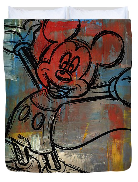 Mickey Mouse Sketchy Hello Duvet Cover