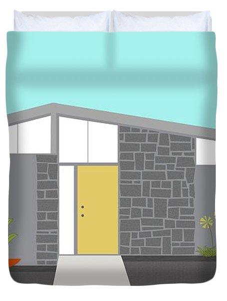 Mid Century Modern House 2 Duvet Cover