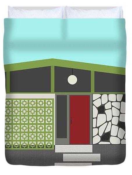 Mid Century Modern House 4 Duvet Cover