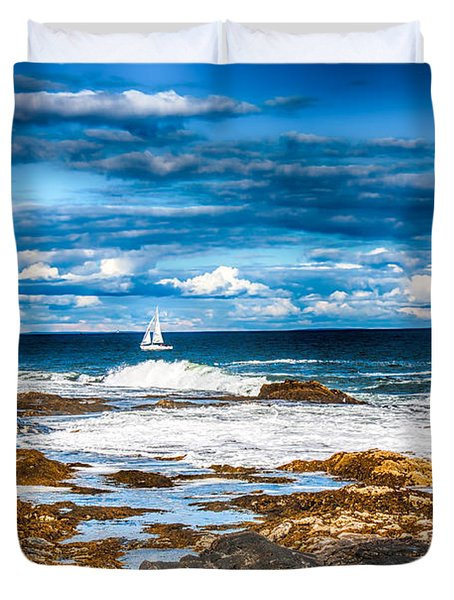 Midday Sail Duvet Cover by Fred Larson