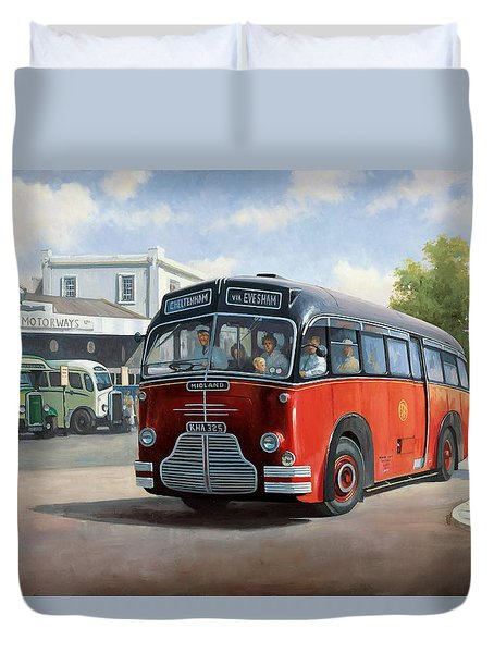 Midland Red C1 Coach. Duvet Cover by Mike  Jeffries