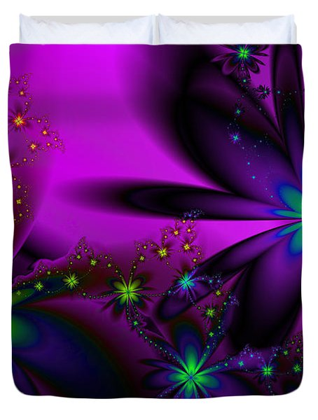 Midnight At The Oasis Duvet Cover