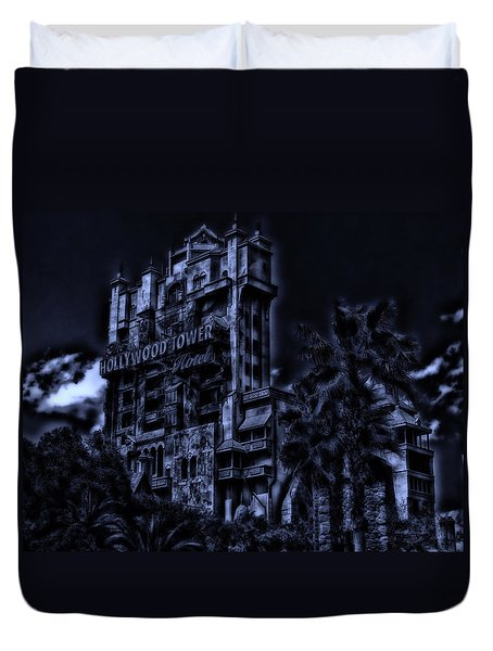 Midnight At The Tower Of Terror Duvet Cover
