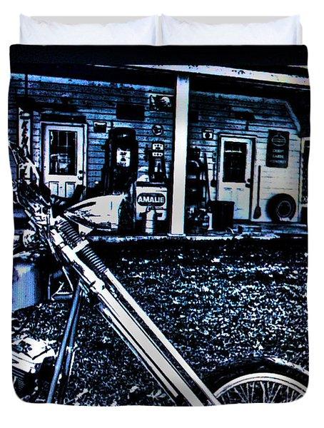 Duvet Cover featuring the digital art Midnight Blues by Lesa Fine