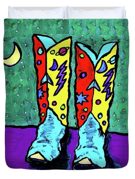 Midnight Cowboy Boots Duvet Cover