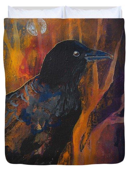 Midnight Flight Duvet Cover by Robin Maria Pedrero