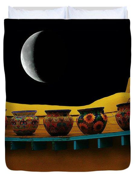 Midnight In Taos Duvet Cover
