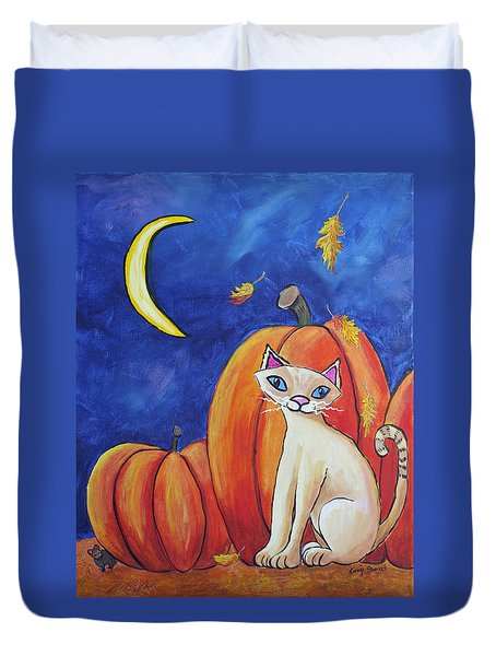 Midnight In The Pumpkin Patch Duvet Cover