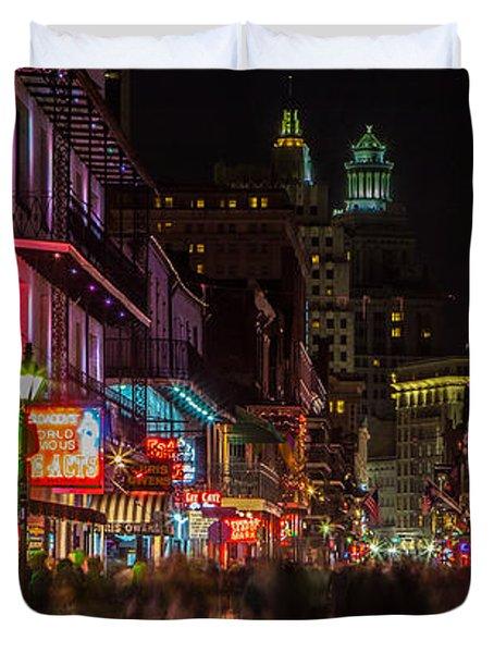 Midnight On Bourbon Street Duvet Cover