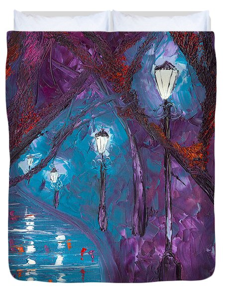 Midnight Soliloquy  Duvet Cover by Jessilyn Park
