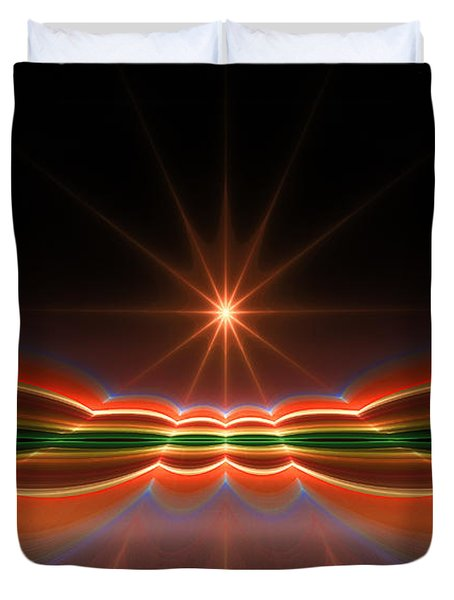 Midnight Sun Duvet Cover by GJ Blackman
