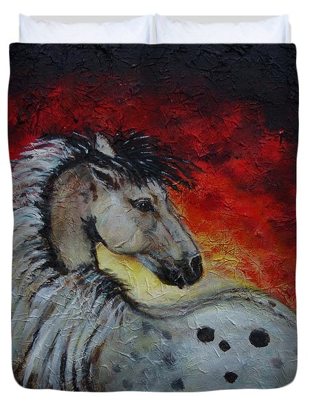 Midnight Sun Duvet Cover by The Art With A Heart By Charlotte Phillips