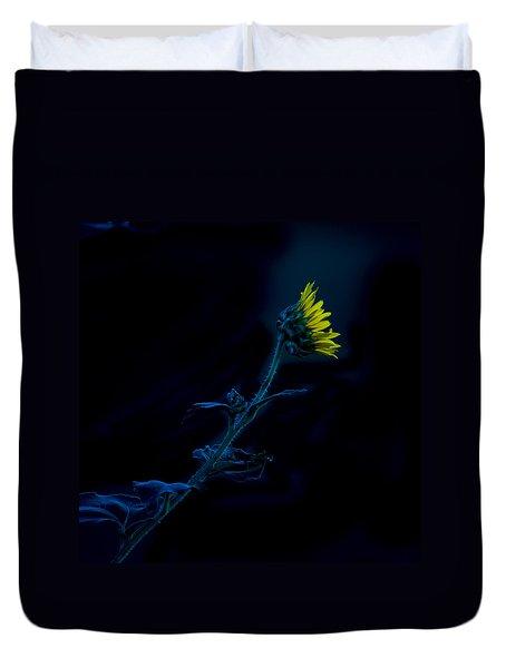 Midnight Sunflower Duvet Cover by Darryl Dalton