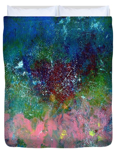Midnight's Garden Duvet Cover by P J Lewis