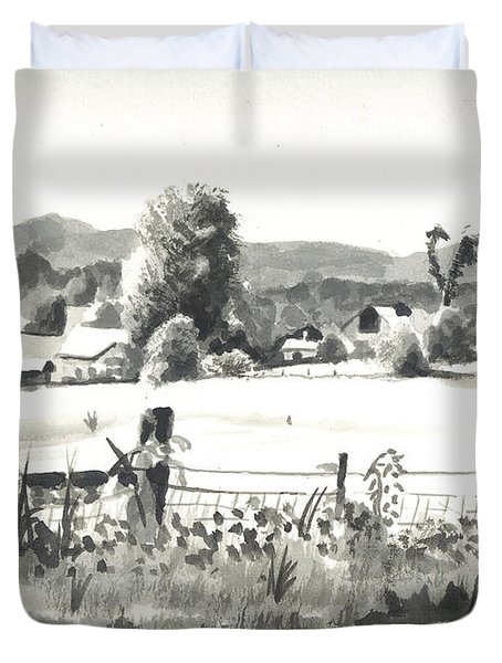 Midsummer View Out Route Jj   No I101 Duvet Cover