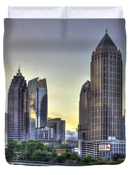 Midtown Atlanta Sunrise Duvet Cover
