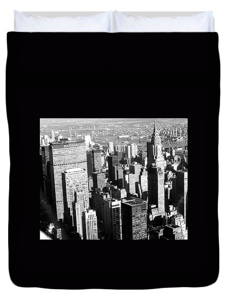 Midtown Manhattan 1972 Duvet Cover by Steve Archbold