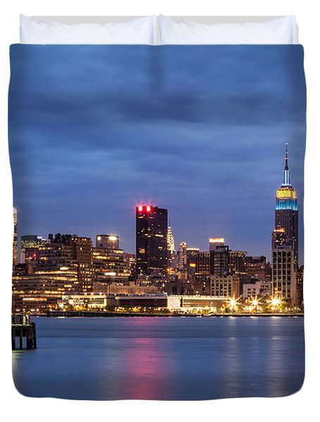 Midtown Manhattan Duvet Cover by Mihai Andritoiu