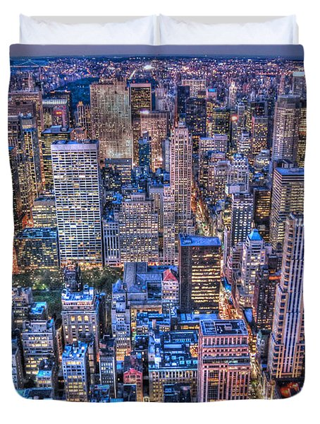 Midtown Manhattan Skyline Duvet Cover by Randy Aveille