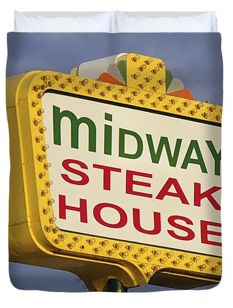 Midway Seaside Heights Boardwalk Nj Duvet Cover