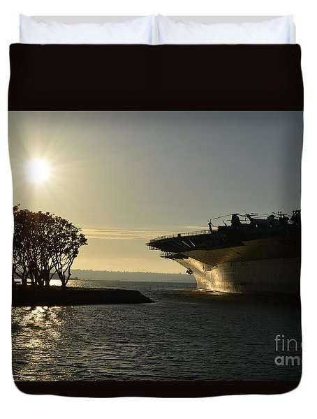 Midway Sunset Duvet Cover